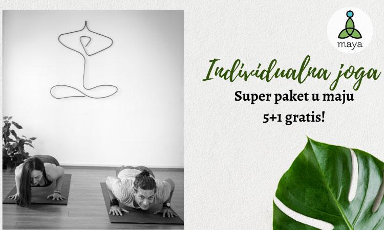 Individualni časovi joge! – Super paket u maju 5 + 1 gratis!