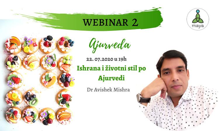 Ishrana i životni stil po Ajurvedi - Webinar 2
