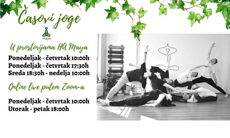 Raspored joga časova u HA Maya i online!