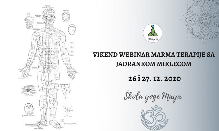 Vikend webinar Marma terapije sa Jadrankom Miklecom